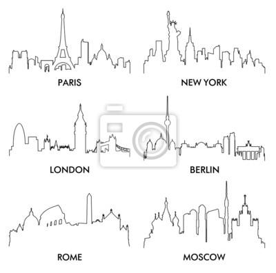 Stadtsilhouette vector4 (6)