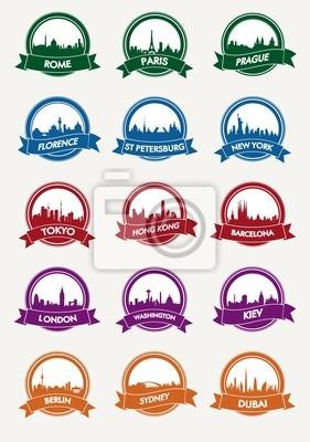 Stadtsilhouette Vektor-Symbol