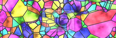 Sticker Stained glass- abstract mosaic architecture