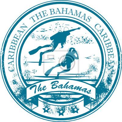 Stampfen mit den Bahamas, der Karibik innen, Vektor