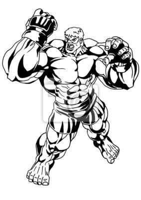 starke Bodybuilder