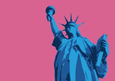 Sticker Statue der Freiheit - New York - Symbol, Américain - Dekoration - Déco - Fond