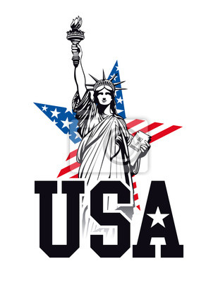 Statue of Liberty, USA. Vector