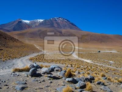 Sticker Staubigen Straßen Altiplano