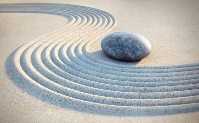 Sticker Stein und Linien im Sand