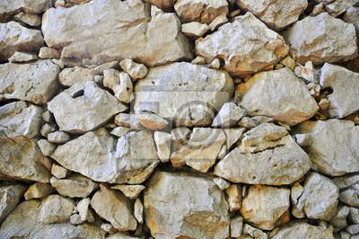 Steinfelsen Wand. Textur der alten Felswand für Hintergrund.