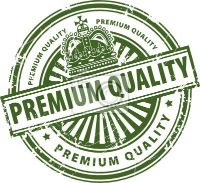 Stempel, mit dem Text Premium Quality geschrieben innen