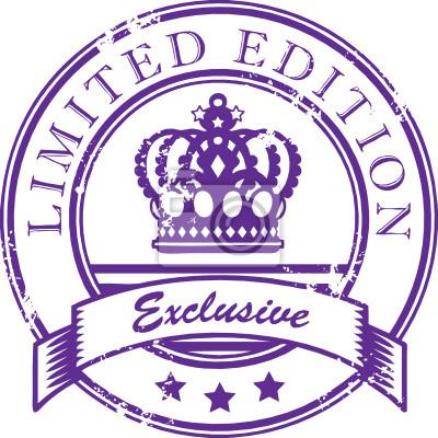 Stempel mit dem Wort Limited Edition - Exklusiv innen geschrieben