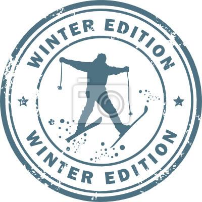 Stempel mit dem Wort Winter Edition innen