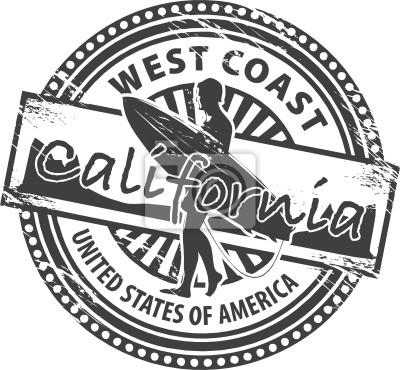 Stempel mit Namen von Kalifornien, Vektor-Illustration
