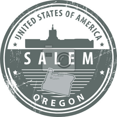 Stempel mit Namen von Oregon, Salem, Vektor