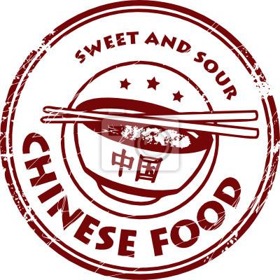 Stempel mit Text Chinese Food geschrieben innen, Vektor-Illustration
