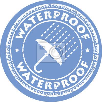Stempel mit Text Wasserdicht, Vektor-Illustration