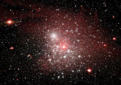 Sticker Sterne, Staub und Gasnebel in einer weiten Galaxie