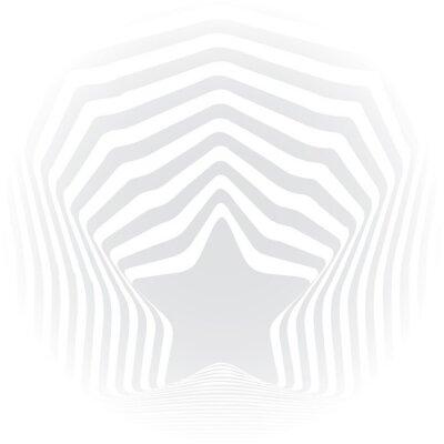Sticker Sterngrauen Streifen optische Täuschung visuellen Kunst-Effekt.