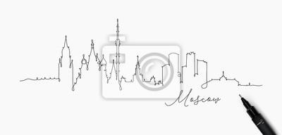 Stift Linie Silhouette Moskau