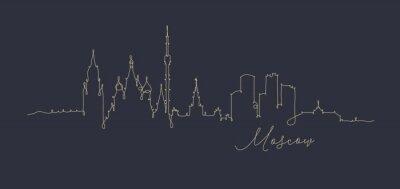 Stift Linie Silhouette Moskau dunkelblau