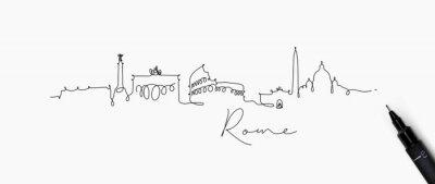 Stiftlinie Schattenbild Rom