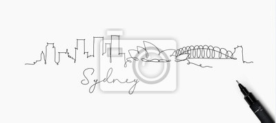Stiftlinie Silhouette Sydney