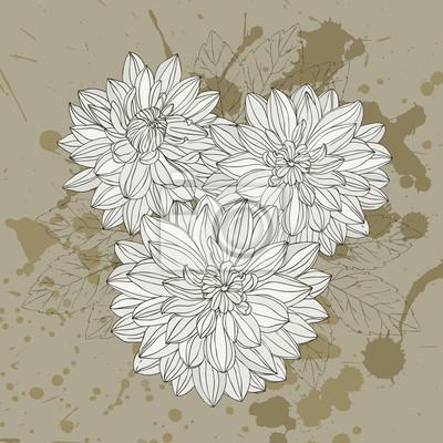 Stilisierte Blumen-Karte für Einladungen verwendet werden können, Grußkarten