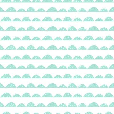 Sticker Stilisierte Hügelreihen. Wave einfache Muster für Stoff-, Textil-und Baby-Leinen.