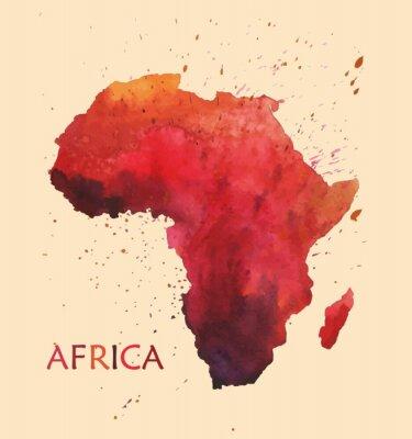 Sticker Stilisierte Karte von Afrika.