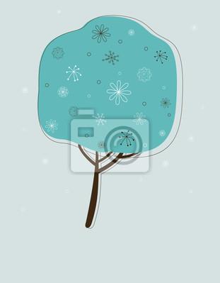 Stilisierte Winter Baum.