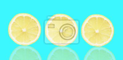 stock-Foto-blau-Hintergrund-von-Scheiben-Zitrone-Frucht-Textur