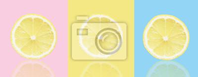 stock-Foto-bunt-Hintergrund-mit-Zitrone-rosa-blau-gelb-Farbe