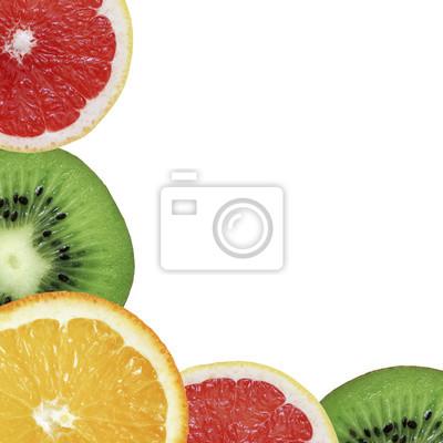 stock-Foto-Hintergrund-aus-Obst-Kiwi-Grapefruit-und-Orange-exotischen Früchten