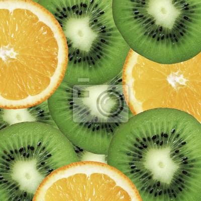 stock-foto-hintergrund-mit-orange-und-grün-kiwi-obst-gesund-essen-panorama