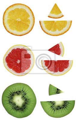 Stock-Foto-Orange-Kiwi-Grapefruit-isoliert-auf-den-weißen Hintergrund