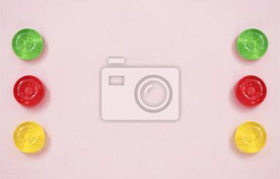 Stock-Foto-Rosa-Pastelle-abstract-Hintergrund-mit-Top-View-on-bunten-Süßigkeiten