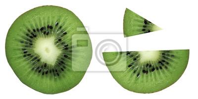 stock-Foto-Scheibe-grün-Kiwi-Frucht-exotisch-isoliert-auf-den-weißen Hintergrund