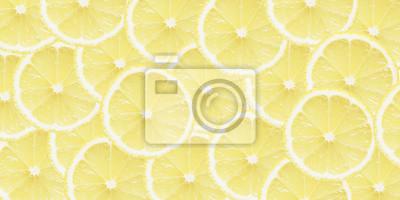 stock-Foto-Zitrone-gelb-Hintergrund-Scheiben-gesund-Essen-Top-View