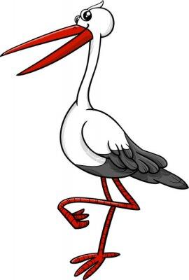 Sticker Storch Vogel Tier Charakter