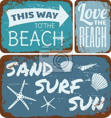 Strand-Blechschilder-Sammlung
