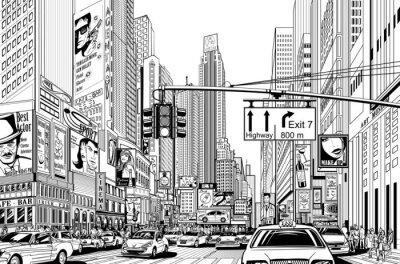 Straße in New York City