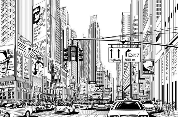 Sticker Straße in New York City