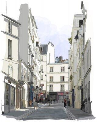 Straße nahe Montmartre in Paris