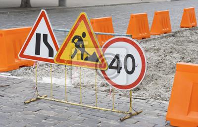 Straßenarbeiten