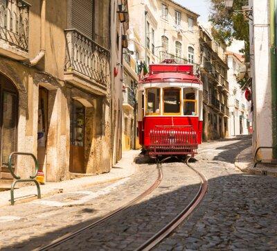 Sticker Straßenbahn auf der Straße