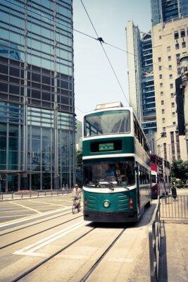 Sticker Straßenbahn in hong kong