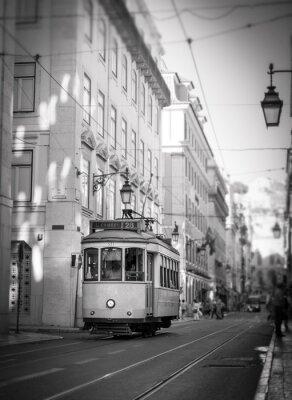 Sticker Straßenbahn in Lissabon, retro