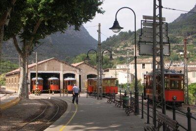 Sticker Straßenbahnen in Sheds Soller Mallorca Spanien