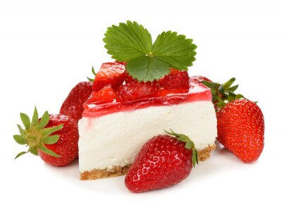 Sticker strawberry cheesecake
