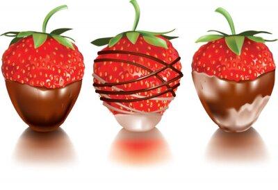Sticker Strawberry in flüssiger