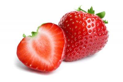 Sticker Strawberry isoliert auf weißem Hintergrund