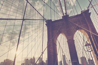 Sticker Strukturelle Detail der Brooklyn-Brücke