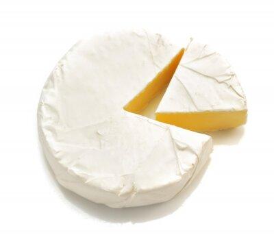 Sticker Stück Käse Käse isoliert auf weiß